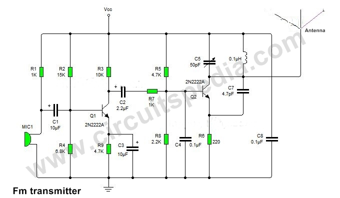 [DIAGRAM_38YU]  Simple FM Transmitter circuit | Homemade FM transmitter circuit diagram | Wiring Diagram For Transmitter |  | circuitspedia