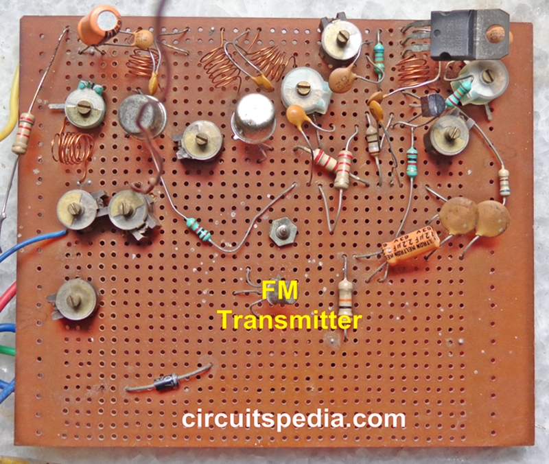 Long range FM transmitter circuit