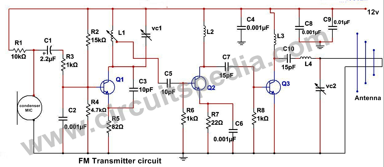 fm transmitter circuits diagram schematics wiring diagram wiring diagram for transmitting audio wiring diagram for transmitter #13