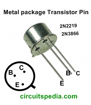 2N2219 2N3866 Metal packageTransistor Pin