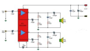 tda2009 audio amplifier circuit diagram
