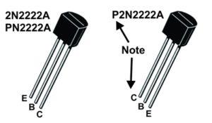 2N2222 Transistor pin
