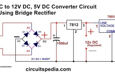 230v ac to 12v dc and 5v dc Regulated Power Converter
