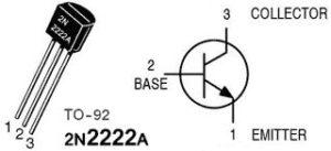 Pin of 2N2222