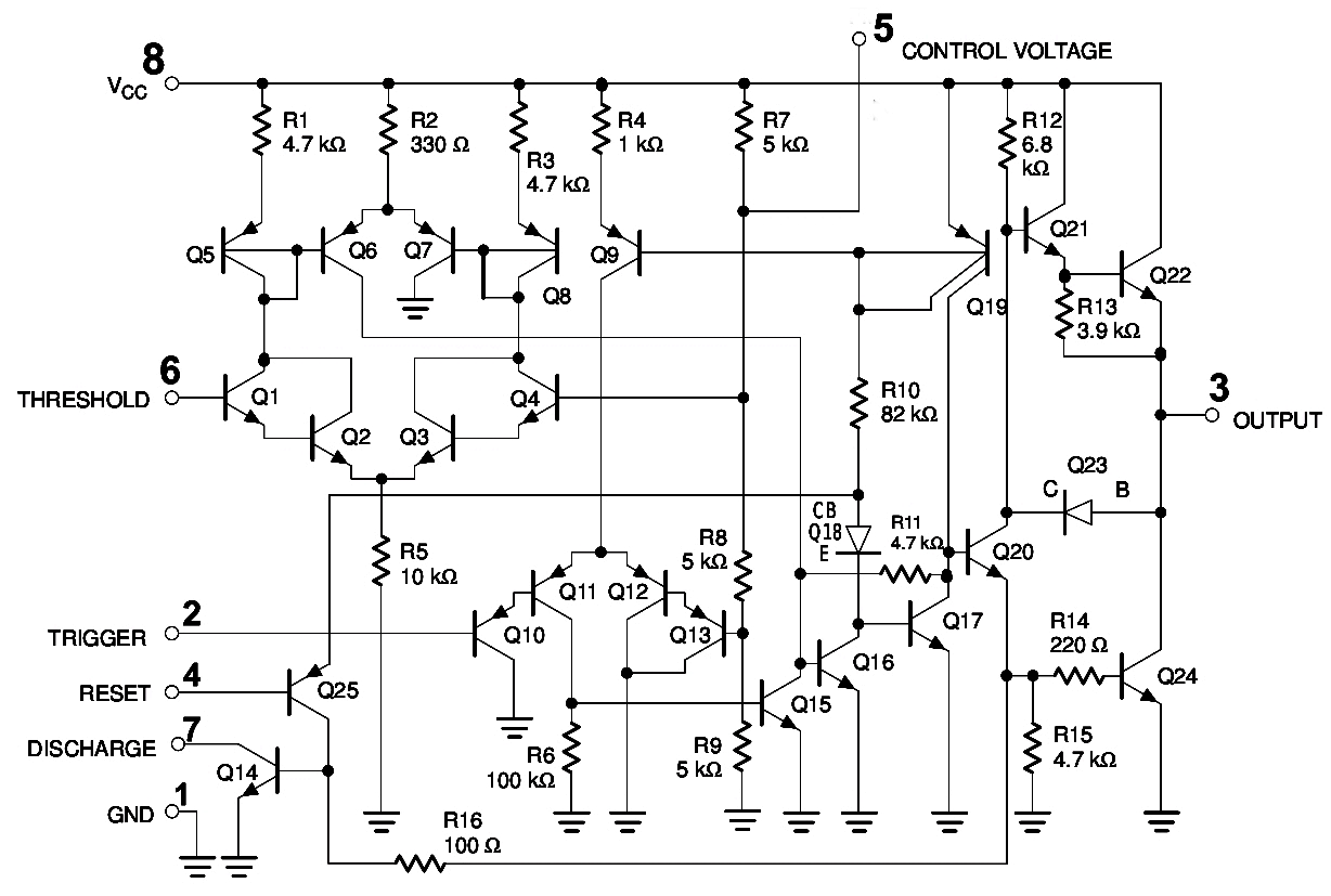 555 timer ic pin diagram features and applications