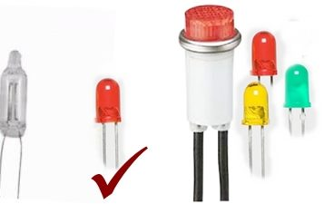 LED Power indicator for 220v AC mains