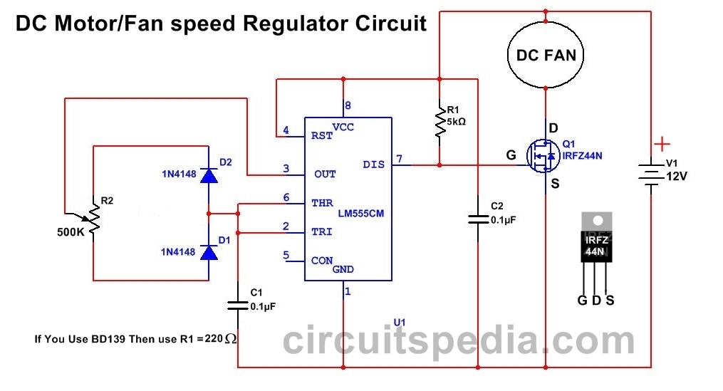 dc fan motor speed controller regulator circuit dc fan servo motor control using 555 timer dc motor control using 555 timer