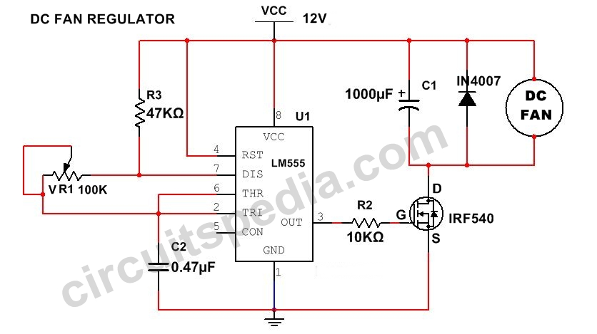 12v fan speed control circuit