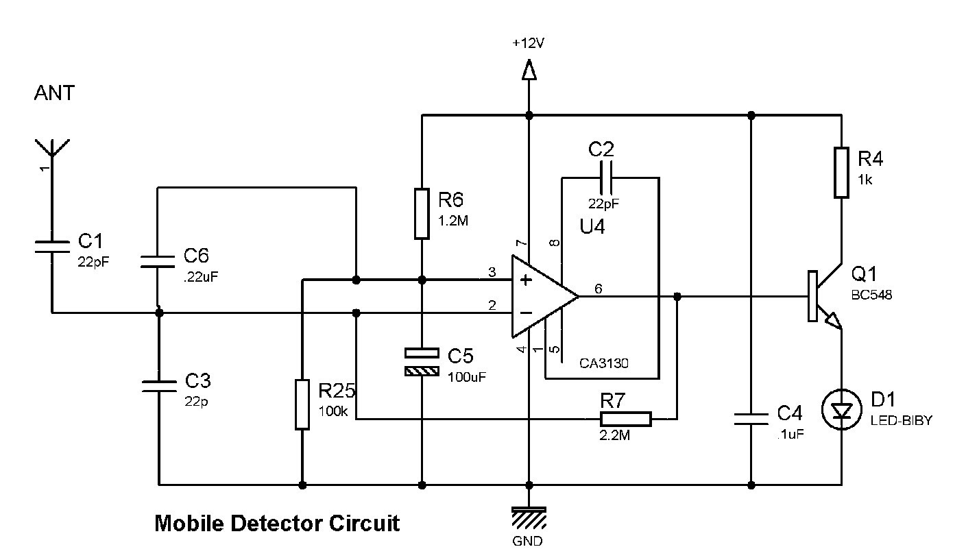 Mobile Phone Detector Circuit Lm358 All Kind Of Wiring Diagrams Experiments With Buildcircuit Cell Project Diagram And Schematics Arduino
