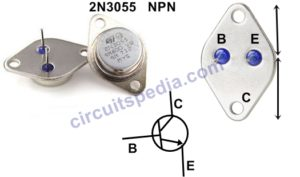 2N3055 Transistor Pinout configuration