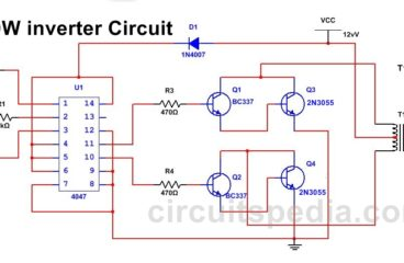 220v 50W  Low Power Inverter Circuit