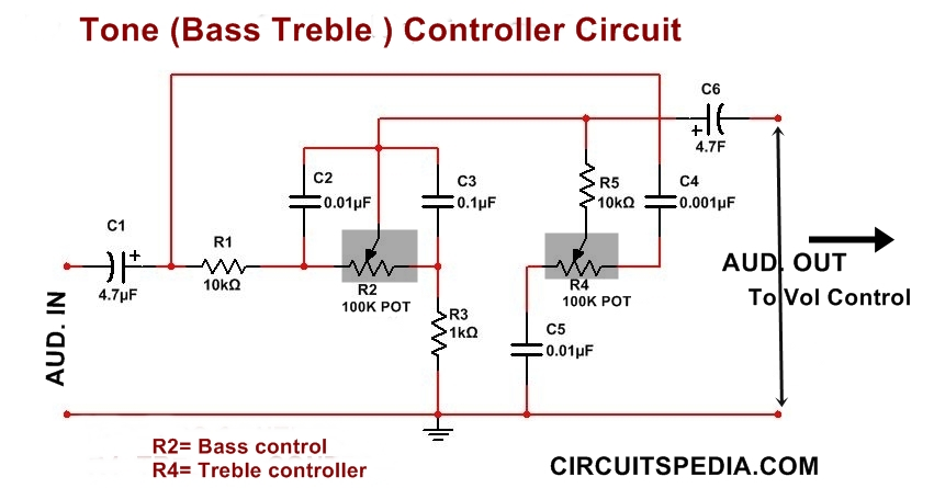 Marvelous Bass Treble Tone Control Circuit Using Opamp Audio Tone Control Wiring Cloud Cosmuggs Outletorg