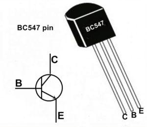 BC 547 transistor. Transistor BC547 Pin configuration Diagram
