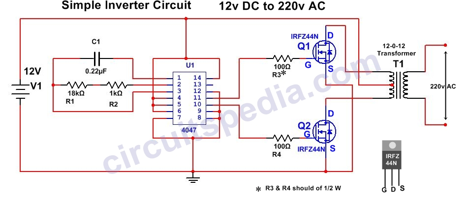 Homemade Simple Inverter Circuit