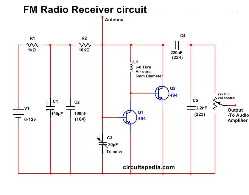 fm radio schematic diagram very simple fm radio receiver circuit circuitspedia circuit diagram of am fm radio #14