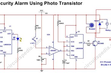 Infrared Security Alarm Using PhotoTransistor