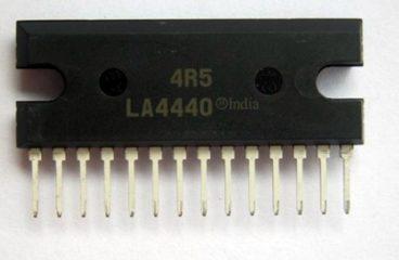 Stereo Audio Amplifier Using CD4440 / LA4440