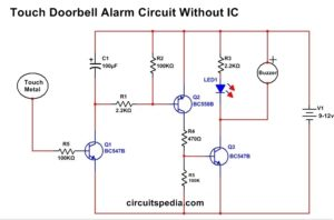 Touch Doorbell alarm without ic