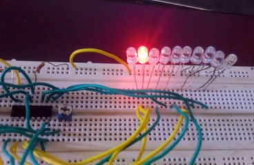 LED Sequence Flashing | LED Flasher using 4017