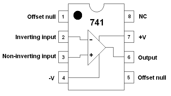 High Voltage Protection Circuit Using Opamp 741