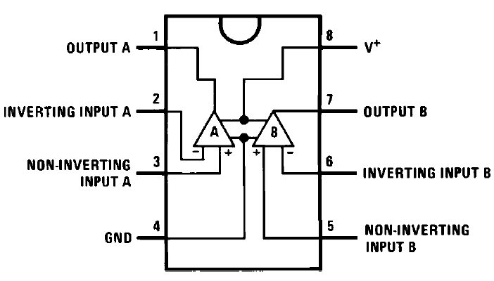 overvoltage and undervoltage protection circuit diagram using comparator rh circuitspedia com lm358 pin layout lm358 circuit diagram