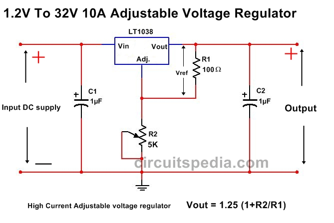 High Current Voltage regulator circuit diagram