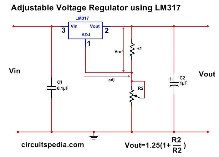 1 5a Adjustable Variable Dc Voltage Regulator Circuit