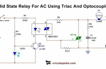 Solid State Relay With Triac And Optocoupler