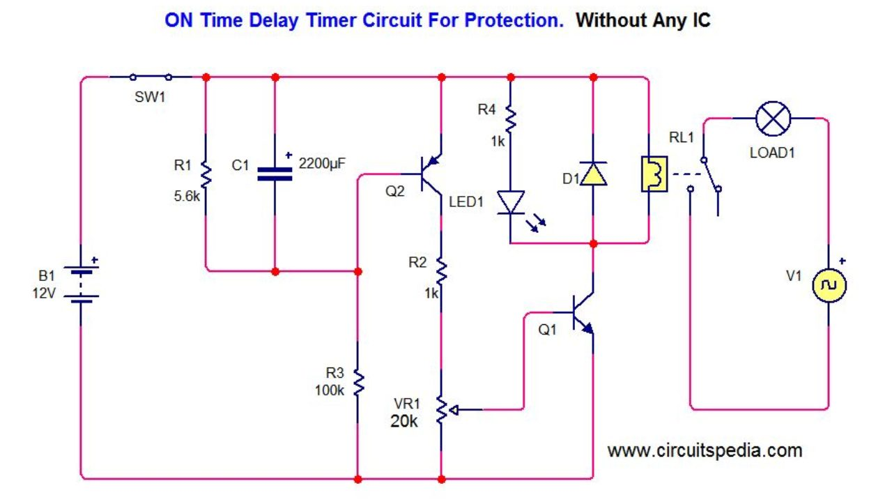 Time Delay Wiring Diagram - Wiring Diagram Tools on
