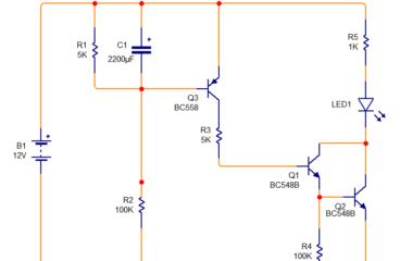 Delay ON Timer circuit using transistor