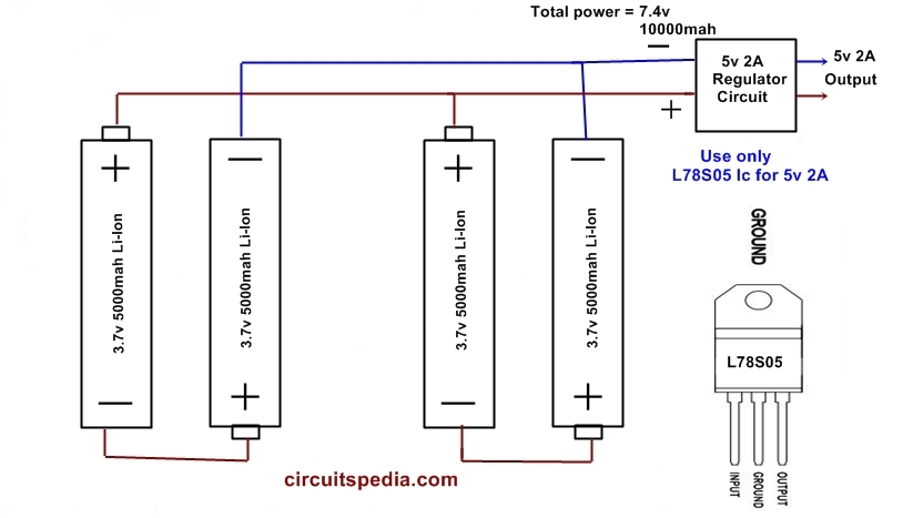 how to make Power bank circuit with aa battery