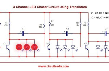 led chaser flasher circuit circuitspediaeasy 3 channel led flasher chaser