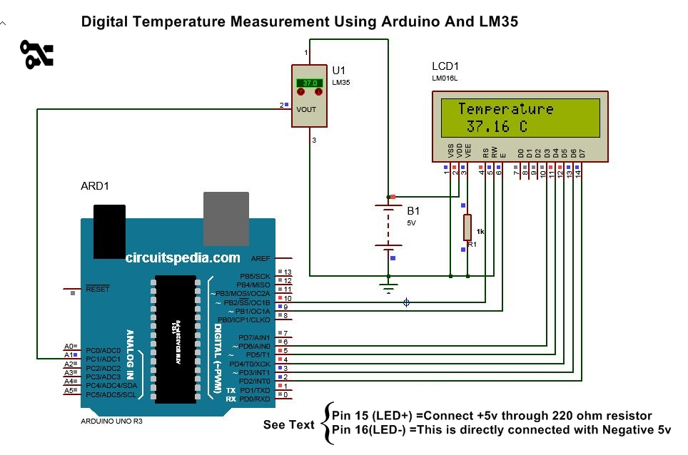 digital thermometer arduino