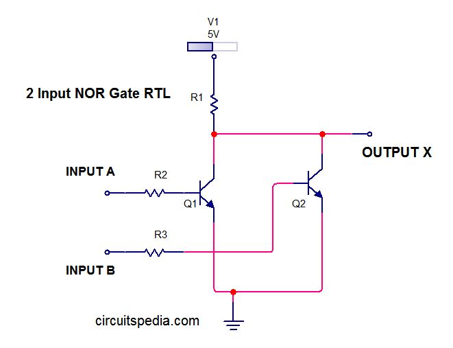 NOR LOGIC CIRCUIT