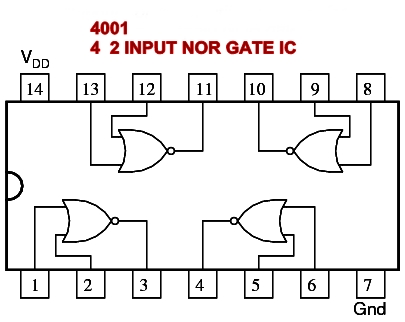 NOR GATE IC NUMBER