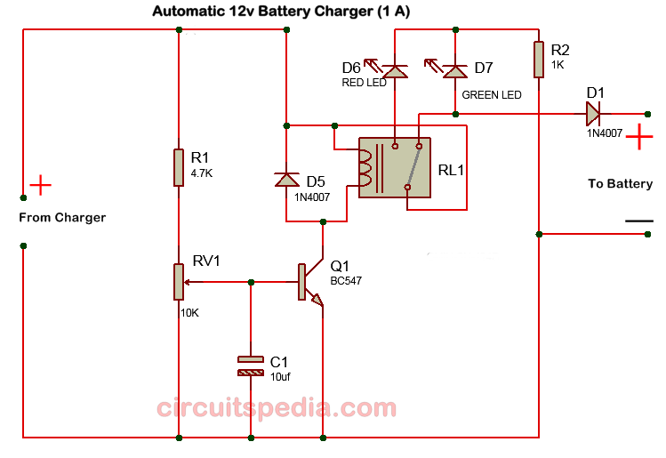 12v battery charger circuit diagram