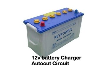 12v Battery Charger circuit with Overcharge Protection