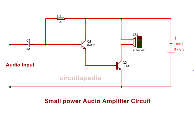 5v audio amplifier circuit diagram | simple transistor ...