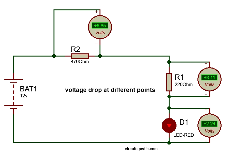 zener diode working voltage drop