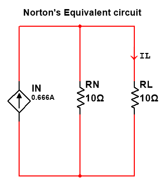 norton theorem equivalent circuit