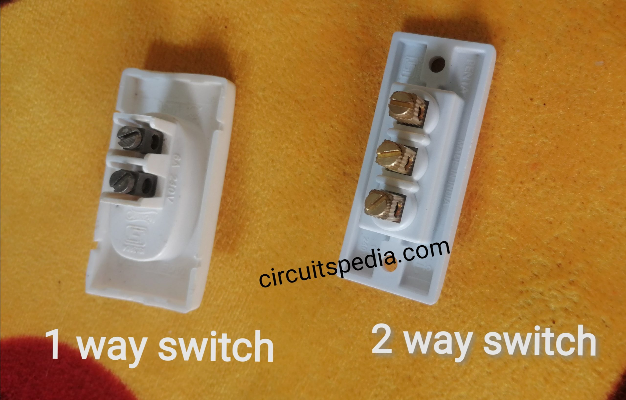 One way switch and two way switch