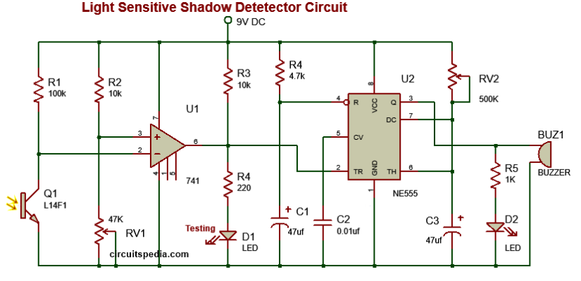 dark sensor circuit diagram