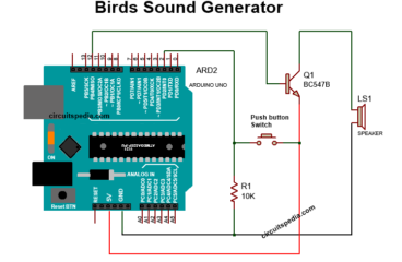 Bird Sound Generator Circuit Using Arduino