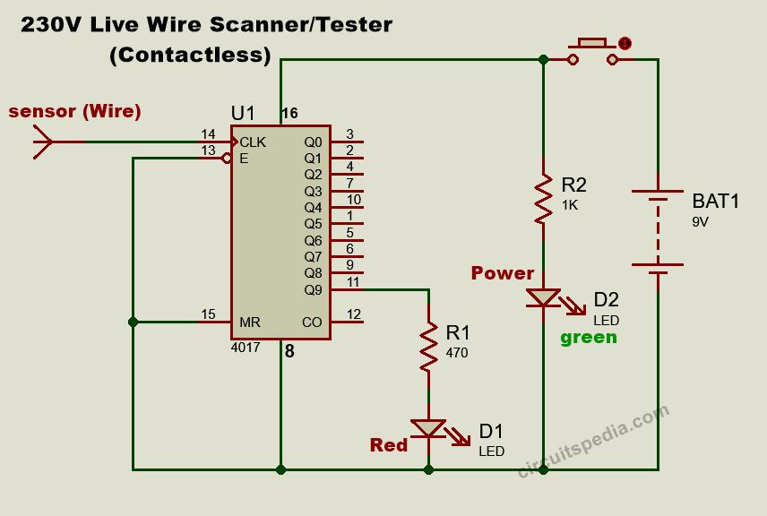 Non contact electric tester circuit